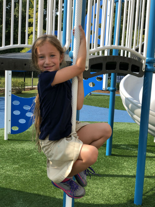 Donate to Addlestone Hebrew Academy in Charleston SC Image of Girl on playground